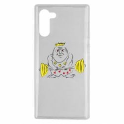 Чехол для Samsung Note 10 Weightlifter caricature