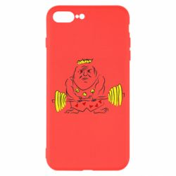 Чехол для iPhone 7 Plus Weightlifter caricature