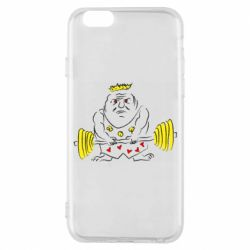 Чехол для iPhone 6/6S Weightlifter caricature