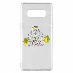 Чехол для Samsung Note 8 Weightlifter caricature