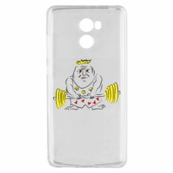 Чехол для Xiaomi Redmi 4 Weightlifter caricature