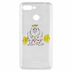 Чехол для Xiaomi Redmi 6 Weightlifter caricature