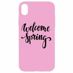 Чохол для iPhone XR Welcome spring