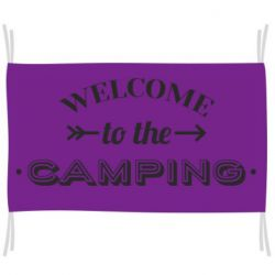 Флаг Welcome to the camping