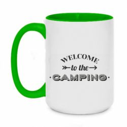 Кружка двухцветная 420ml Welcome to the camping