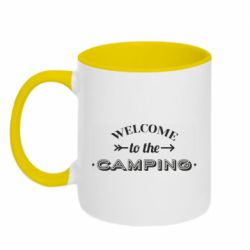 Кружка двухцветная 320ml Welcome to the camping
