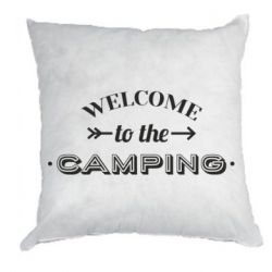 Подушка Welcome to the camping