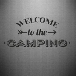 Наклейка Welcome to the camping