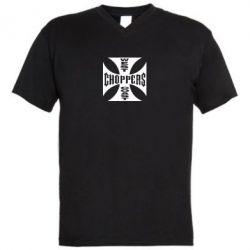 Мужская футболка  с V-образным вырезом West Coast Choppers