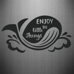 Наклейка Whale: Enjoy the little things
