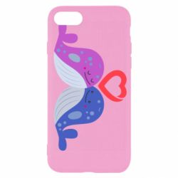 Чохол для iPhone 7 Whale with heart