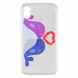 Чохол для iPhone X/Xs Whale with heart