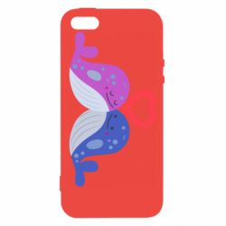 Чохол для iphone 5/5S/SE Whale with heart