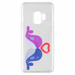 Чохол для Samsung S9 Whale with heart