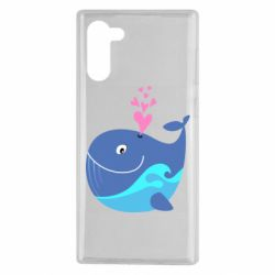 Чохол для Samsung Note 10 Whale with smile