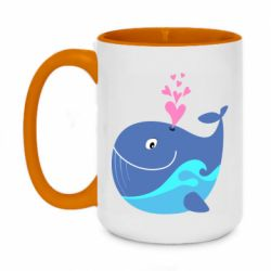Кружка двоколірна 420ml Whale with smile