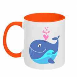 Кружка двоколірна 320ml Whale with smile