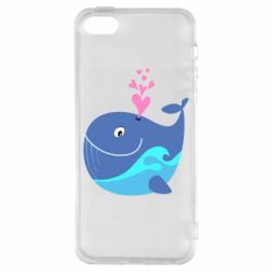 Чохол для iphone 5/5S/SE Whale with smile