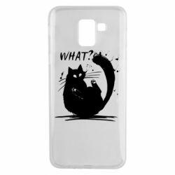 Чохол для Samsung J6 What cat