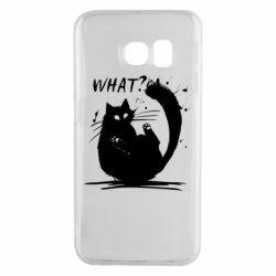 Чохол для Samsung S6 EDGE What cat