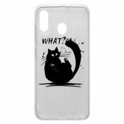 Чохол для Samsung A20 What cat