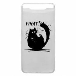 Чохол для Samsung A80 What cat