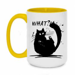 Кружка двоколірна 420ml What cat