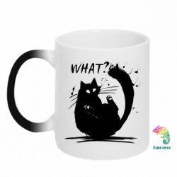 Кружка-хамелеон What cat