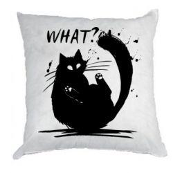 Подушка What cat