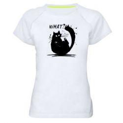 Жіноча спортивна футболка What cat