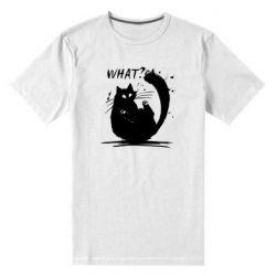 Чоловіча стрейчева футболка What cat