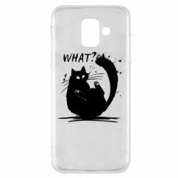 Чохол для Samsung A6 2018 What cat