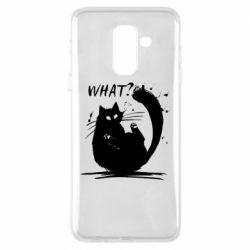 Чохол для Samsung A6+ 2018 What cat