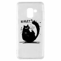 Чохол для Samsung A8 2018 What cat