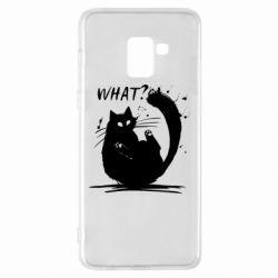 Чохол для Samsung A8+ 2018 What cat