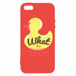 Чехол для iPhone5/5S/SE What the duck? - FatLine