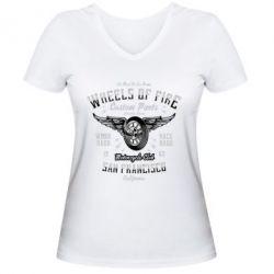 Жіноча футболка з V-подібним вирізом Wheels Of Fire