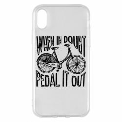 Чохол для iPhone X/Xs When in doubt pedal it out