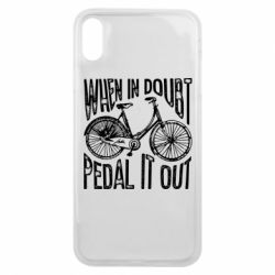 Чохол для iPhone Xs Max When in doubt pedal it out