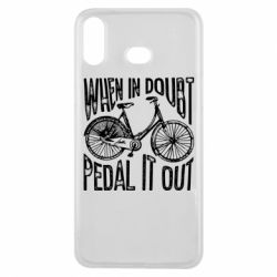 Чохол для Samsung A6s When in doubt pedal it out