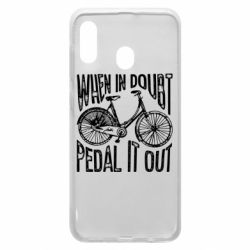 Чохол для Samsung A30 When in doubt pedal it out