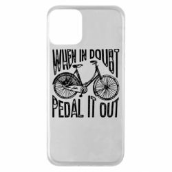 Чохол для iPhone 11 When in doubt pedal it out