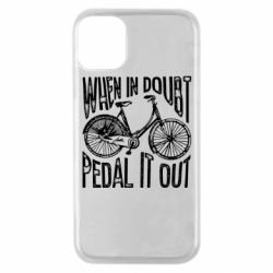 Чохол для iPhone 11 Pro When in doubt pedal it out