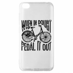 Чохол для Xiaomi Redmi Go When in doubt pedal it out