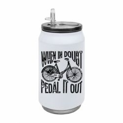 Термобанка 350ml When in doubt pedal it out