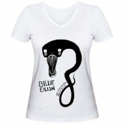 Жіноча футболка з V-подібним вирізом When we all fall asleep, where do we go?