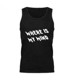 Мужская майка Where is my mind