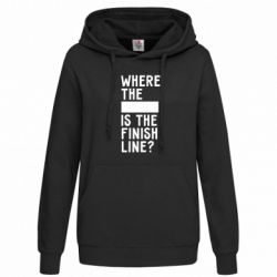 Женская толстовка Where the is the finish line?