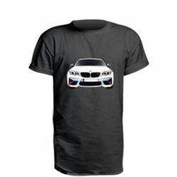 Подовжена футболка White bmw