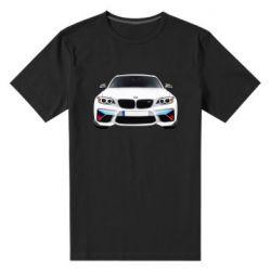 Чоловіча стрейчева футболка White bmw